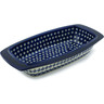 14-inch Stoneware Rectangular Baker with Handles - Polmedia Polish Pottery H5501B