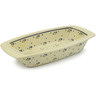 14-inch Stoneware Rectangular Baker with Handles - Polmedia Polish Pottery H9744D