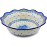 14-inch Stoneware Scalloped Bowl - Polmedia Polish Pottery H0821I