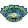 14-inch Stoneware Scalloped Bowl - Polmedia Polish Pottery H4369G