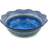 14-inch Stoneware Scalloped Bowl - Polmedia Polish Pottery H5119H