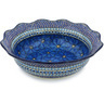 14-inch Stoneware Scalloped Bowl - Polmedia Polish Pottery H8974G