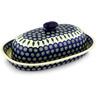 15-inch Stoneware Baker with Cover - Polmedia Polish Pottery H0494D