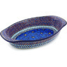 15-inch Stoneware Oval Baker with Handles - Polmedia Polish Pottery H4806G