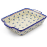 15-inch Stoneware Rectangular Baker with Handles - Polmedia Polish Pottery H3992J