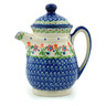 15 oz Stoneware Pitcher with Lid - Polmedia Polish Pottery H0573I