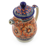 15 oz Stoneware Pitcher with Lid - Polmedia Polish Pottery H4549J