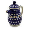 15 oz Stoneware Pitcher with Lid - Polmedia Polish Pottery H7103J