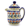 15 oz Stoneware Pitcher with Lid - Polmedia Polish Pottery H9117I