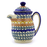 15 oz Stoneware Pitcher with Lid - Polmedia Polish Pottery H9883I