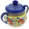 15 oz Stoneware Sugar Bowl - Polmedia Polish Pottery H4792F