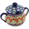 15 oz Stoneware Sugar Bowl - Polmedia Polish Pottery H9727J