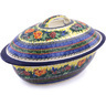 16-inch Stoneware Baker with Cover - Polmedia Polish Pottery H0381G