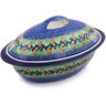 16-inch Stoneware Baker with Cover - Polmedia Polish Pottery H0610G