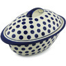 16-inch Stoneware Baker with Cover - Polmedia Polish Pottery H2612H