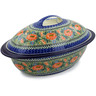 16-inch Stoneware Baker with Cover - Polmedia Polish Pottery H6519B