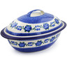 16-inch Stoneware Baker with Cover - Polmedia Polish Pottery H7649B