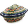 16-inch Stoneware Baker with Cover - Polmedia Polish Pottery H8223J