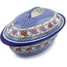 16-inch Stoneware Baker with Cover - Polmedia Polish Pottery H8532B