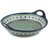 16-inch Stoneware Bowl with Handles - Polmedia Polish Pottery H3508C