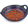 16-inch Stoneware Bowl with Handles - Polmedia Polish Pottery H3560D