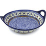 16-inch Stoneware Bowl with Handles - Polmedia Polish Pottery H3691H