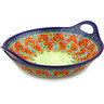16-inch Stoneware Bowl with Handles - Polmedia Polish Pottery H4298I