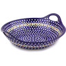 16-inch Stoneware Bowl with Handles - Polmedia Polish Pottery H4300I