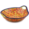 16-inch Stoneware Bowl with Handles - Polmedia Polish Pottery H4302I