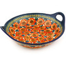 16-inch Stoneware Bowl with Handles - Polmedia Polish Pottery H4655F