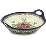 16-inch Stoneware Bowl with Handles - Polmedia Polish Pottery H8881B