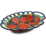 16-inch Stoneware Bowl with Holes - Polmedia Polish Pottery H6119I