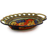 16-inch Stoneware Bowl with Holes - Polmedia Polish Pottery H8192I