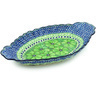 16-inch Stoneware Platter with Handles - Polmedia Polish Pottery H2239H