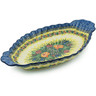 16-inch Stoneware Platter with Handles - Polmedia Polish Pottery H6979H