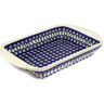 16-inch Stoneware Rectangular Baker with Handles - Polmedia Polish Pottery H7160D