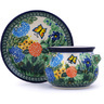 16 oz Stoneware Bouillon Cup with Saucer - Polmedia Polish Pottery H3331G