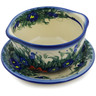 16 oz Stoneware Bouillon Cup with Saucer - Polmedia Polish Pottery H6427K