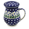 16 oz Stoneware Brewing Mug - Polmedia Polish Pottery H5886J