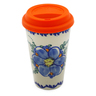 16 oz Stoneware Mug with Lid - Polmedia Polish Pottery H8941H