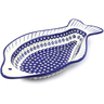 17-inch Stoneware Fish Shaped Platter - Polmedia Polish Pottery H5963I