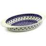 17-inch Stoneware Oval Baker with Handles - Polmedia Polish Pottery H5340E