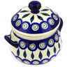 17 oz Stoneware Bouillon Cup with Lid - Polmedia Polish Pottery H0314E