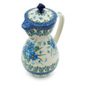 17 oz Stoneware Pitcher with Lid - Polmedia Polish Pottery H0679I