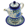 17 oz Stoneware Tea Set for One - Polmedia Polish Pottery H0769I