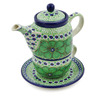 17 oz Stoneware Tea Set for One - Polmedia Polish Pottery H1704J