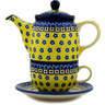 17 oz Stoneware Tea Set for One - Polmedia Polish Pottery H5962C