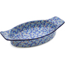18-inch Stoneware Oval Baker with Handles - Polmedia Polish Pottery H5915J