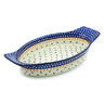 18-inch Stoneware Oval Baker with Handles - Polmedia Polish Pottery H6580H