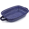 18-inch Stoneware Rectangular Baker with Handles - Polmedia Polish Pottery H4501J